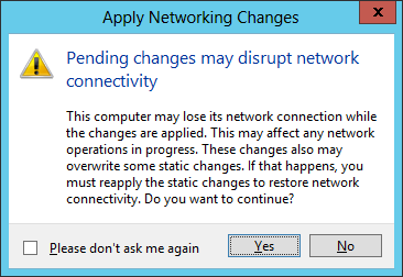 Apply Networking Changes