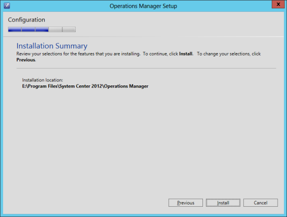 OpsMgr Console Install 09