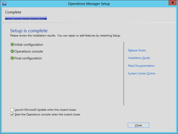 OpsMgr Console Install 10