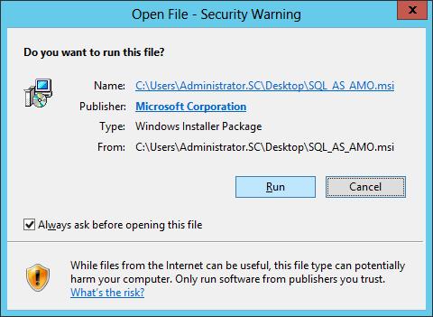 SQL AS AMO Install 01