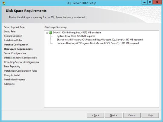 SQL Install 12