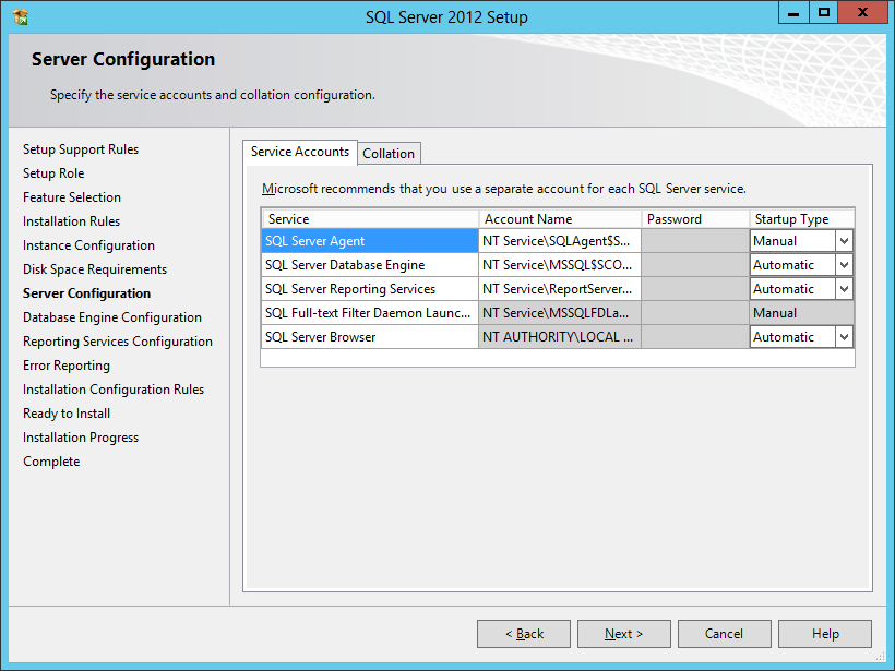 how to change server collation in sql server 2012