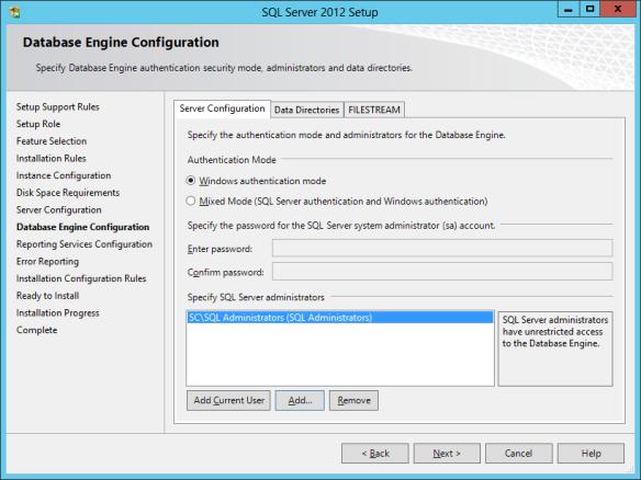 SQL Install 20