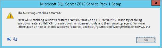SQL Install Error 01