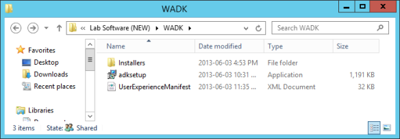 WADK Install Other