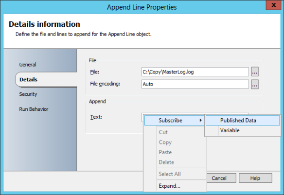 Add Append Line Activity 07