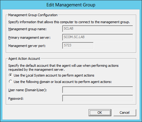 Change Account Config For Agent 03
