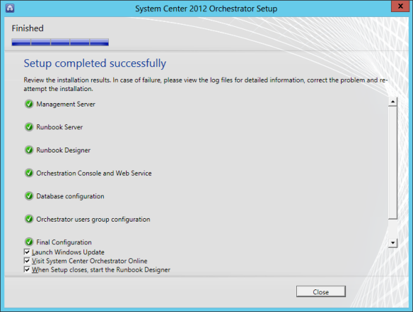 Orchestrator Install 16