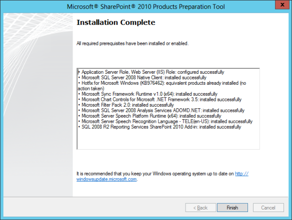 SharePoint PreReq Install 03