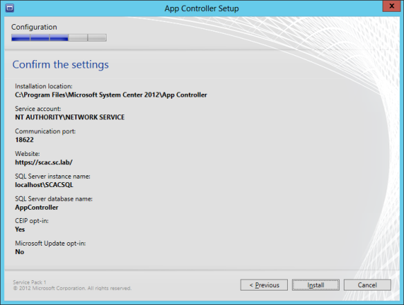 App Controller Install 11