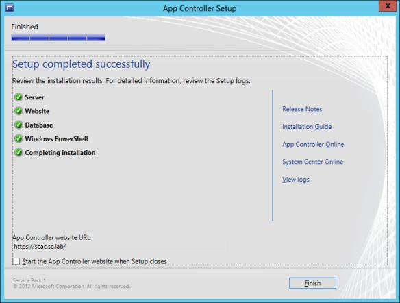 App Controller Install 12