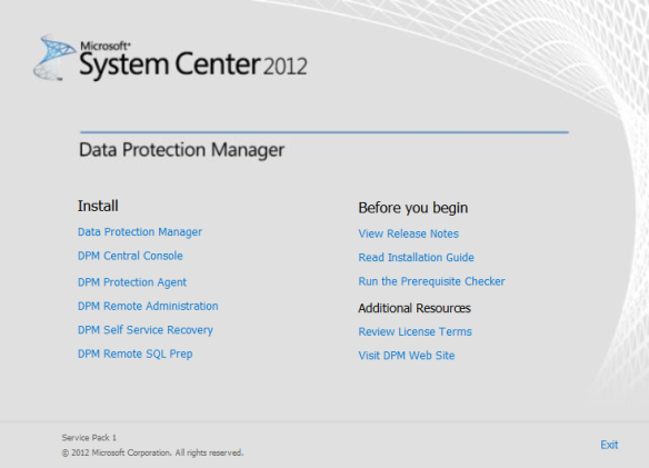 Install DPM Self Service Recovery 01