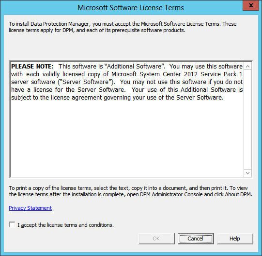 Install DPM Self Service Recovery 02