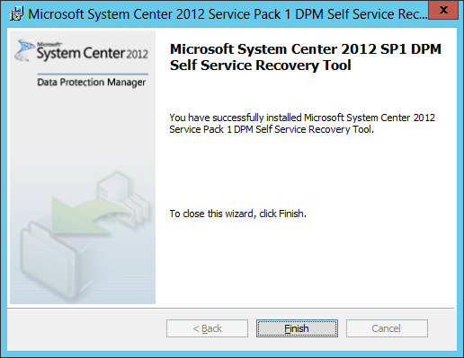 Install DPM Self Service Recovery 04
