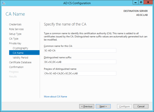 AD CS Configuration 07