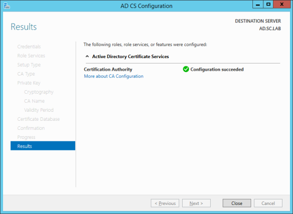 AD CS Configuration 11