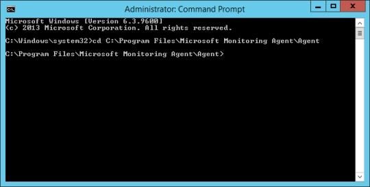 Command Prompt - Change DIR SCOM Agent