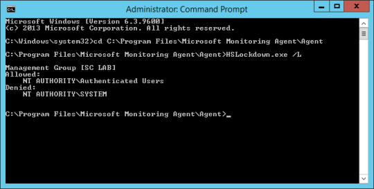 Command Prompt - List Accounts