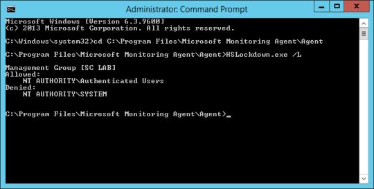 Command Prompt - List Accounts