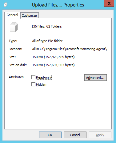 Domain Controller Health Service State Folder Properties