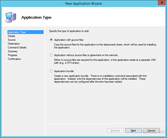 New Application Wizard 01
