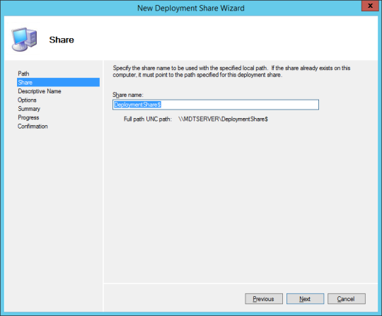 New Deploy Share Wizard 02
