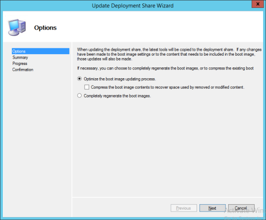 Update Deployment Share Wizard 01