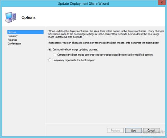 Update Deployment Share Wizard 01