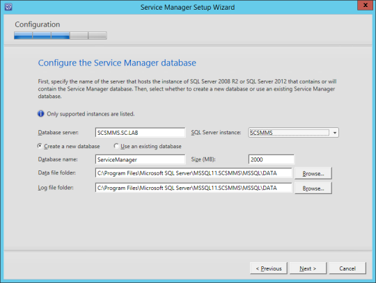 SCSM-MS Configure Service Manager Database Error Corrected