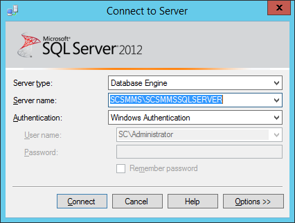 SCSM-MS SQL Server Name and Instance