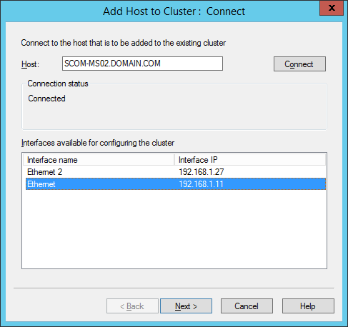 Add Host To Cluster - Connect2