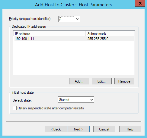 Host Parameters