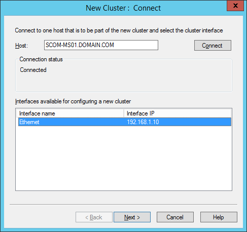 NLB Manager - New Cluster - Select Interface