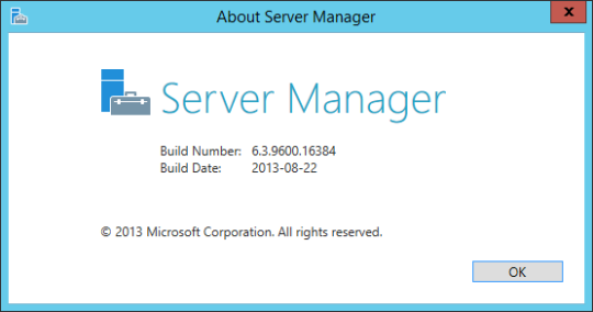 Server Manager - About