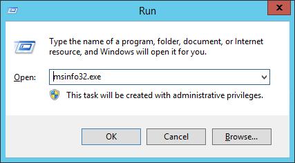Start - Run - MSInfo32
