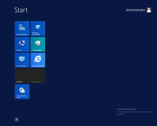 W2K12R2 - Start Screen