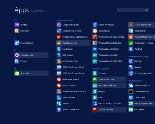 W2K12R2U1 - New Apps Highlighted