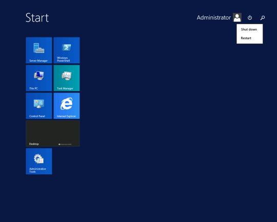 W2K12R2U1 - Start Screen