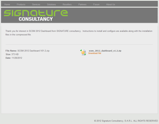 Download Dashboard Files