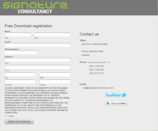 Free Download Registration