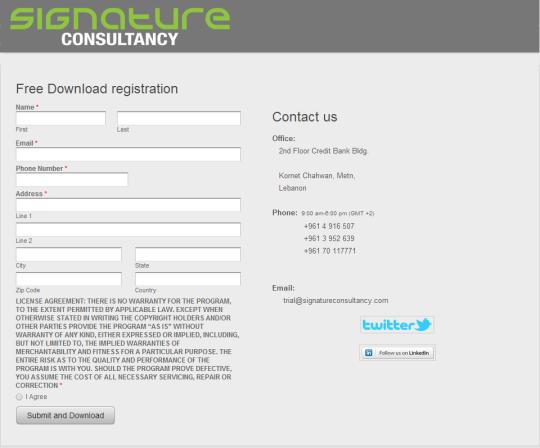 Free Download Registration