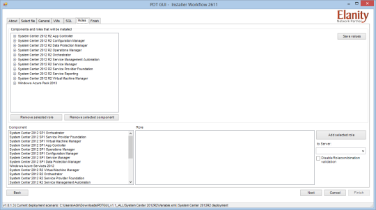 PDT GUI - Roles