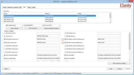 PDT GUI - SQL