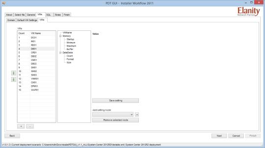 PDT GUI - VMs - VMs