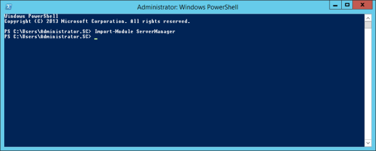PowerShell - Import-Module ServerManager