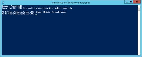 PowerShell - Import-Module ServerManager