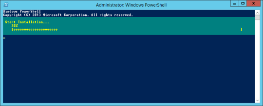 PowerShell - WebServer Installation