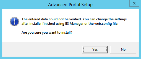 SCSM Advanced Portal - Settings Not Verified