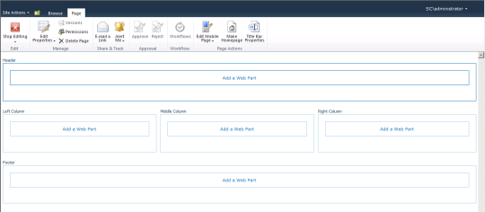 SCSM Dashboards - 08 - New Web Part Page - Design