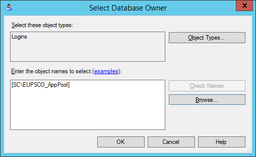 Select Database Owner - Completed